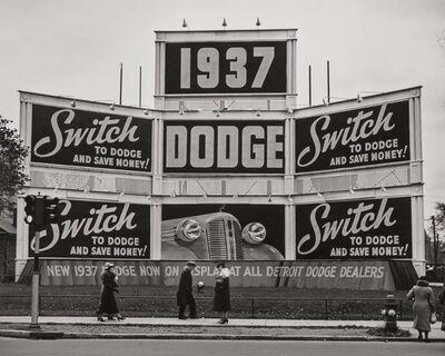 John Gutmann, 'Switch to Dodge, Detroit', 1936
