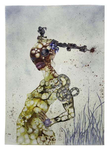 Wangechi Mutu, 'That's My Death Mask You're Wearing', 2004