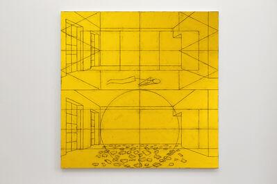 Matt Mullican, 'Untitled (World Interior with Figure / Elemental Interior with Pieces)', 2014