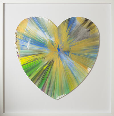 Damien Hirst, 'Spin Painting - Heart', 2009
