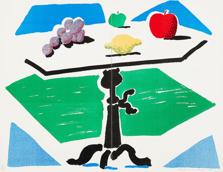 David Hockney, 'Apples, Grapes and Lemon on a Table, from Brooklyn Academy of Music Portfolio II', 1988-1989