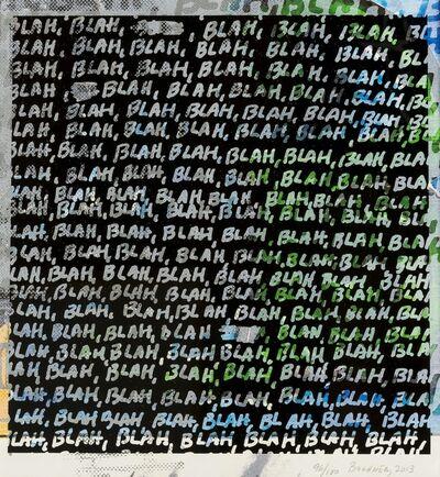 Mel Bochner, 'Blah, Blah, Blah + Background Noise', 2013