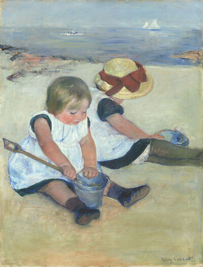 Mary Cassatt, 'Children Playing on the Beach', 1884