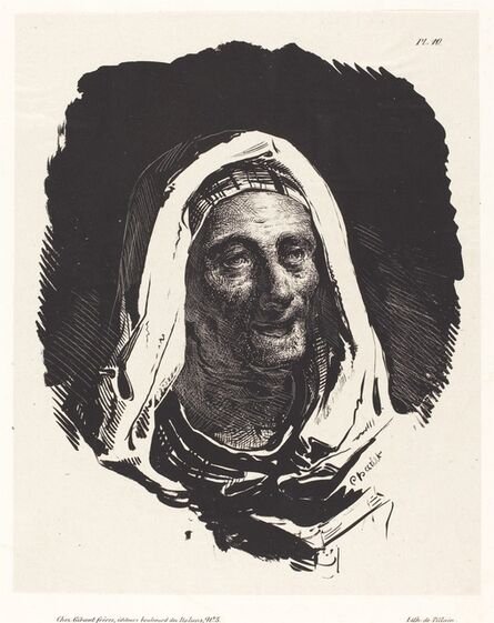 Nicolas-Toussaint Charlet, 'Head of an Old Woman'