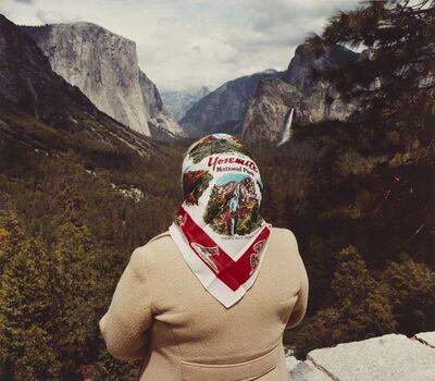 Roger Minick, 'Woman with Scarf at Inspiration Point, Yosemite National Park', 1980