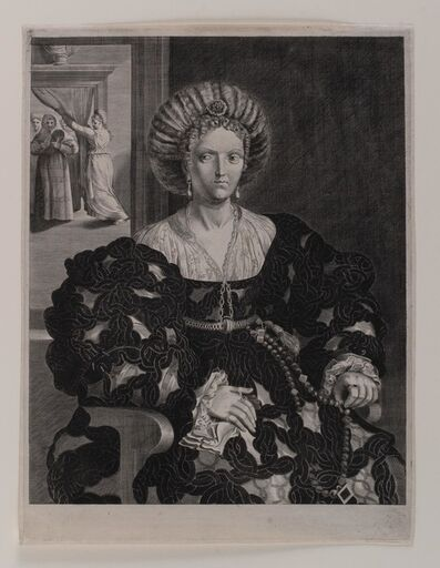 Pieter Holsteijn The Younger, 'A Portrait of a Lady (after GIULIO ROMANO)', not dated