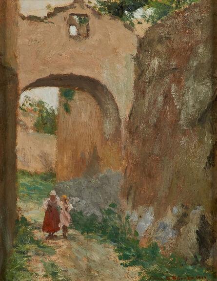 Cora Brooks, 'A Street in Ravello, Italy', 1917