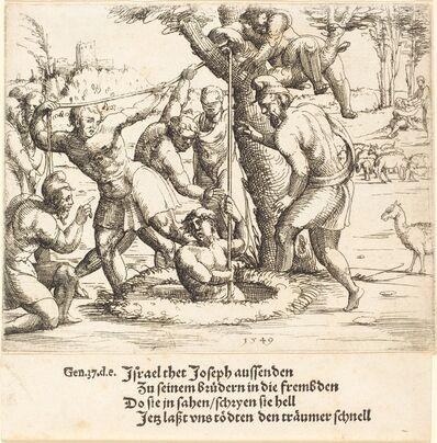 Augustin Hirschvogel, 'Joseph Thrown into the Well', 1549