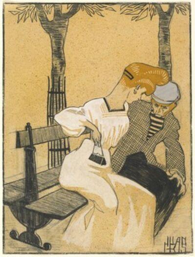 Juan Gris, 'Man and Woman on Bench', 1908/1909