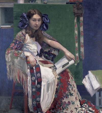 Josef Maria Auchentaller, 'Bunte Bände' (Portrait of Maria)', 1912