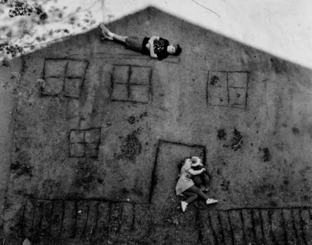 Abelardo Morell, 'Laura and Brady in the Shadow of Our House', 1994
