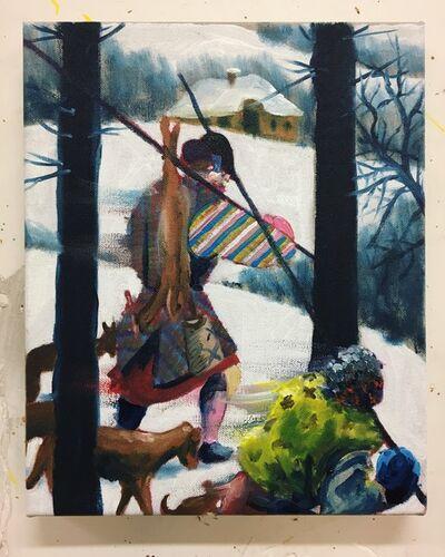 """Thomas Agrinier, 'Etude pour """"les chasseurs dans la neige""""', 2020"""