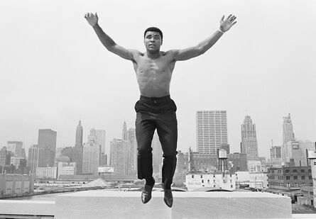 Thomas Hoepker, 'Ali jumping from a bridge over Chicago river, USA', 1963