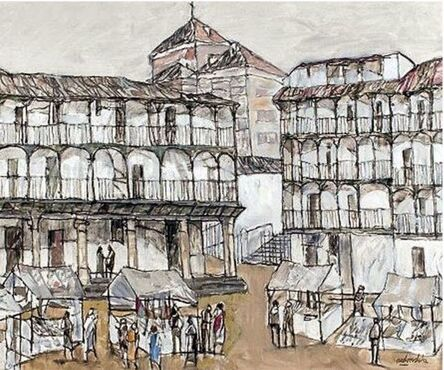Agustín Redondela, 'Mercado de Chinchon', 1999