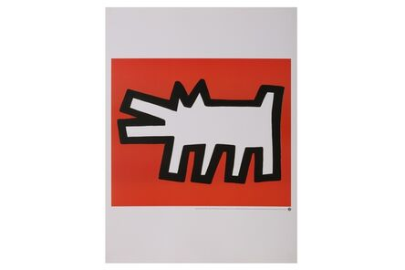 Keith Haring, 'Icon red dog', 1990