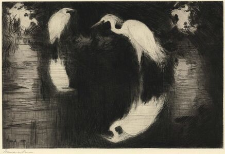 Frank Weston Benson, 'The Dark Pool.  ', 1920