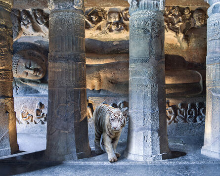 Karen Knorr, 'Mahasattva's Sacrifice , Cave 26, Ajanta'