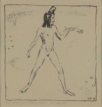 Cuno Amiet, 'Akt mit Blume', 1918