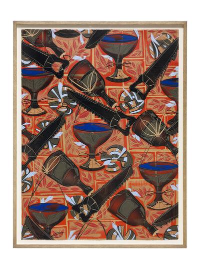 Lari Pittman, 'Found Buried: Textile for an Embassy', 2020