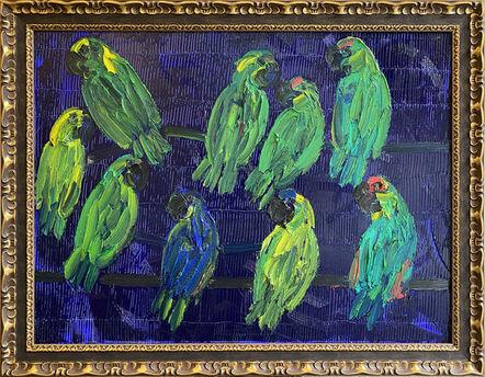 Hunt Slonem, 'Parrots', 2018