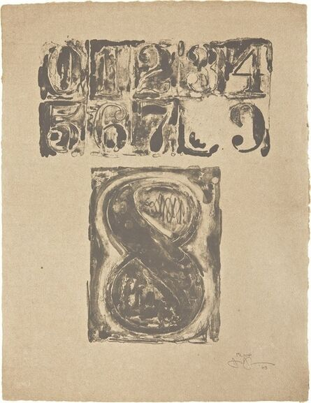 Jasper Johns, '0-9: Plate 8', 1963