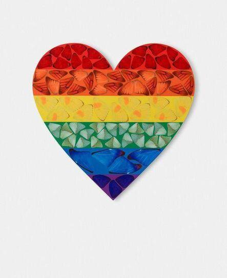 Damien Hirst, 'Rainbow Heart', 2020