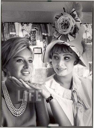 Alfred Eisenstaedt, 'Sophia Loren Holding Chin of Sister Maria', 1961