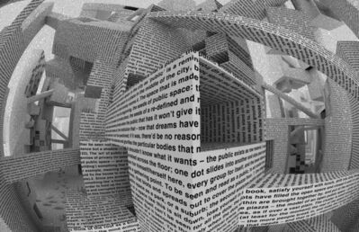 Vito Acconci, 'City of Words, Wallpaper by Maharam', 2010