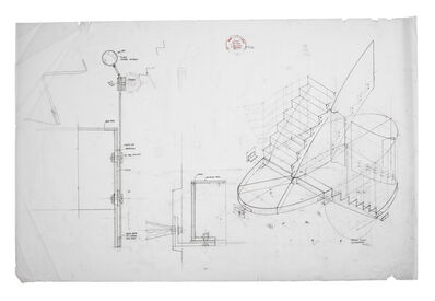 Peter Salter, 'Staircase detail, part section & axonometric (full size and 1:10)', 2008