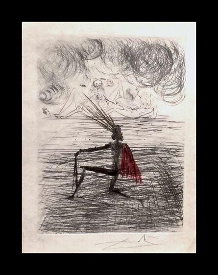 Salvador Dalí, 'Faust Chevalier a Genou', 1969