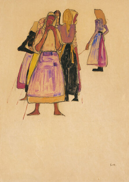 Egon Schiele, 'Farmers', 1910