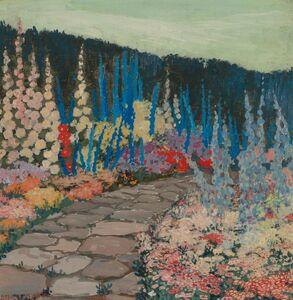 Jessie Arms Botke, 'Garden in Bloom'