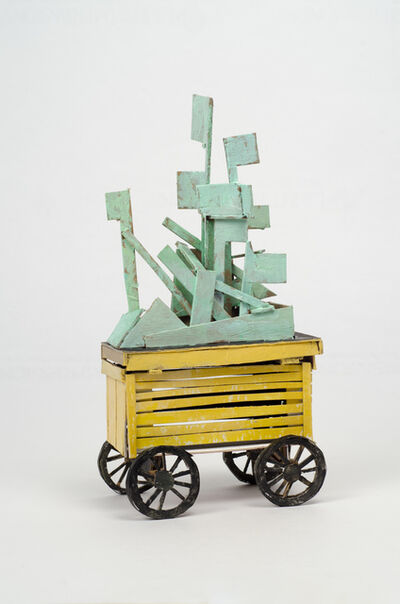 Mark Mahosky, 'Untitled (yellow cart with green construction)', 2014