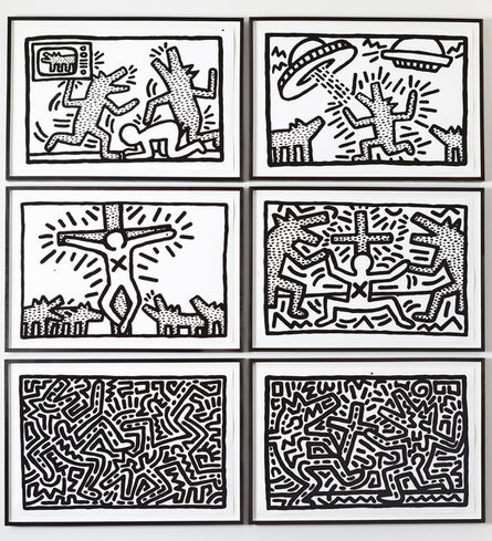 Keith Haring, ''6 Lithographs' (1 - 6: The Complete Suite)', 1982