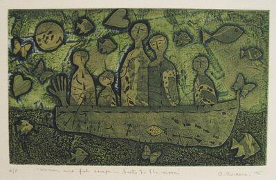 Christina Cordero, 'Women and Fish escape in Boats to the Moon', 1995