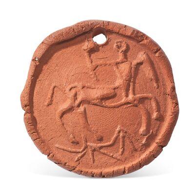 Pablo Picasso, 'Pablo Picasso Madoura terracotta medallion 'Centaure en profil' Ramié 95', 1950