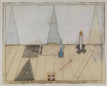 Brian Falconbridge, 'Study for Still Life (Towards Emmaus)', 1983