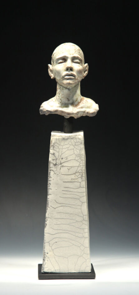 BOB CLYATT, 'Noborigama Man on Pillar- Eyes Closed', 2014