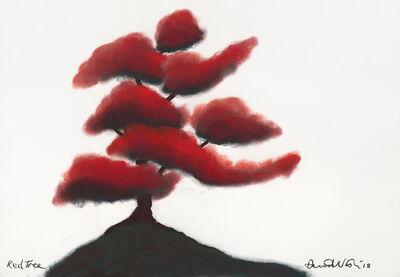 David Nash, 'Red Tree', 2018