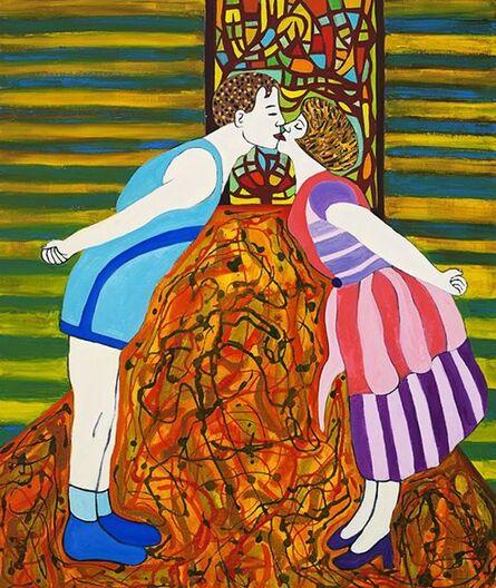Susan Bee, 'The Kiss', 2014
