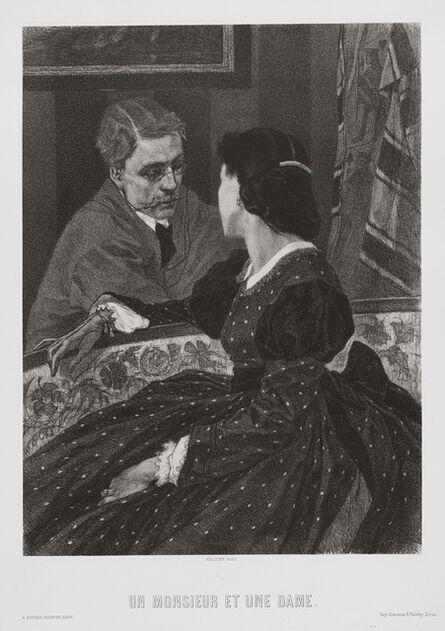 Félicien Rops, 'Un Monsieur et une Dame', 1891