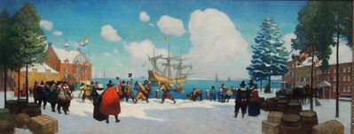 N.C. Wyeth, 'The Christmas Ship in Old New York', 1928