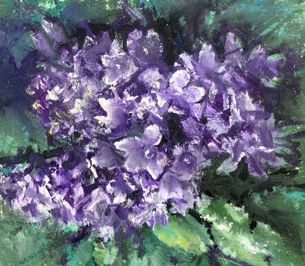 Agron (Gon) Bregu, 'Purple flowers (Campanula)', 2017