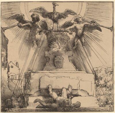 Rembrandt van Rijn, 'The Phoenix or the Statue Overthrown', 1658