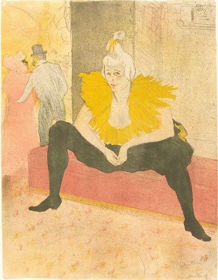 Henri de Toulouse-Lautrec, 'Seated Clowness (La Clownesse assise)', 1896