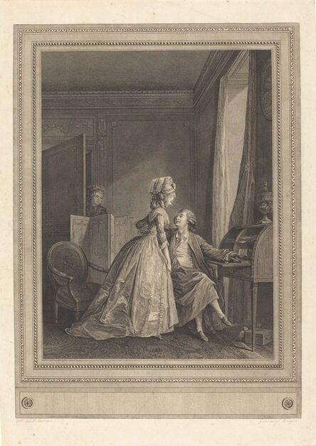 Jean-Louis Delignon after Nicolas Lavreince, 'Les offres seduisantes', 1782