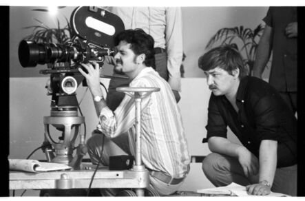 """Peter Gauhe, 'Rainer Werner Fassbinder and Michael Ballhaus on the set of """"Beware of a Holy Whore""""', 1970-1971"""