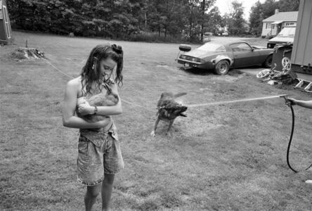 Sage Sohier, 'Girl with rabbit and German Shepherd, Laconia, New Hampshire', 1992