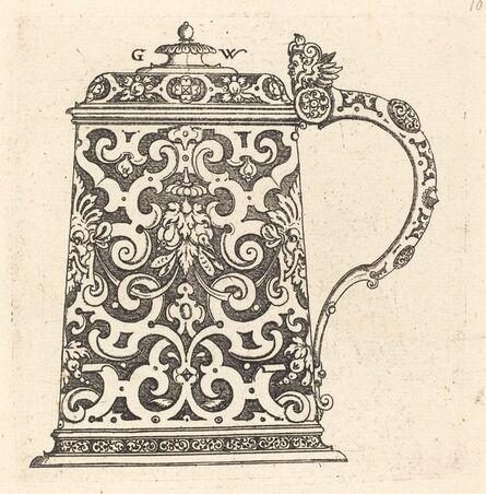 Georg Wechter I, 'Large jug, the handle formed by a snake', published 1579