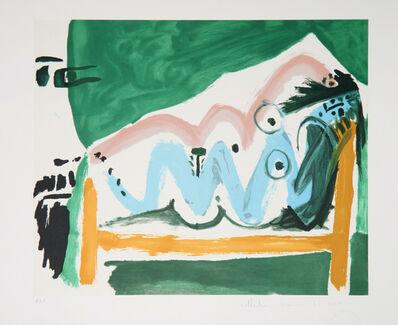 Pablo Picasso, 'Ne Allongée et Tête d'Homme de Profil, 1965', 1979-1982